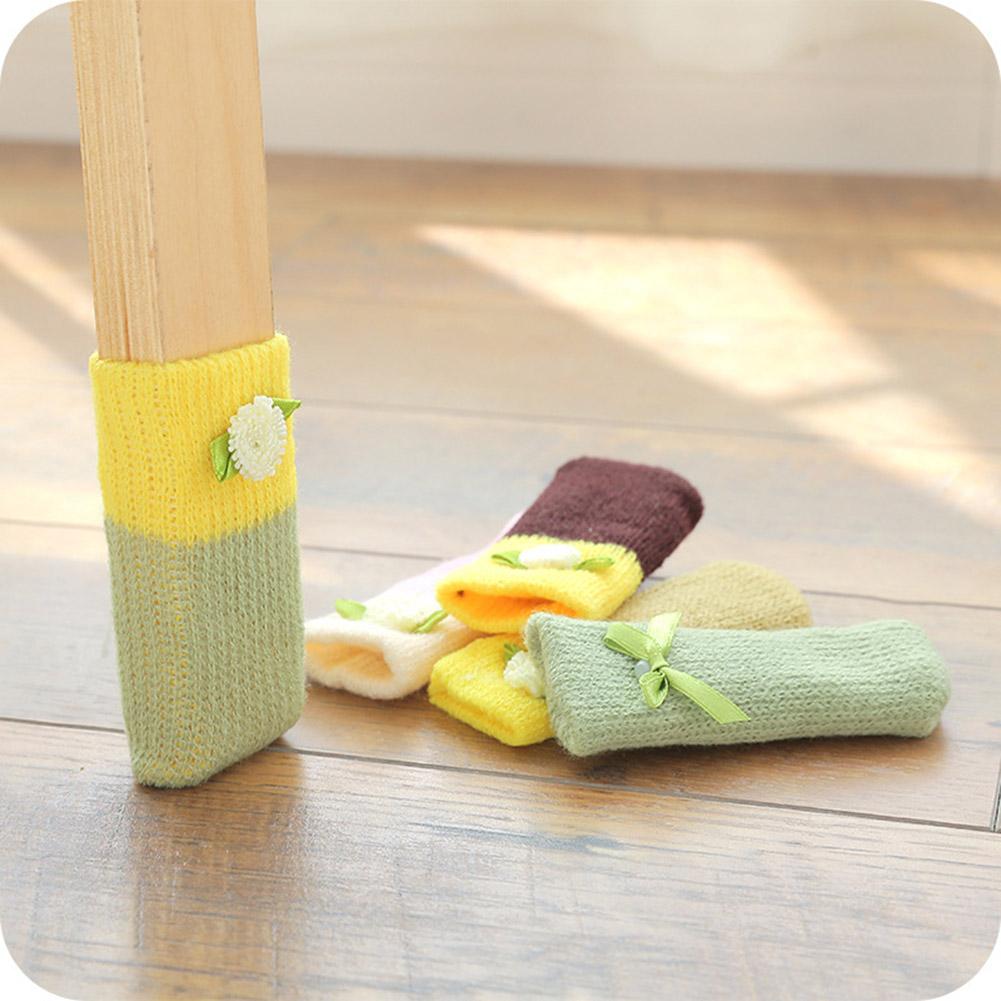 4 шт./компл. Вязание шерсть Председатель Ferrule Anti Scratch мебельные ножки пол защитные aeProduct.getSubject()
