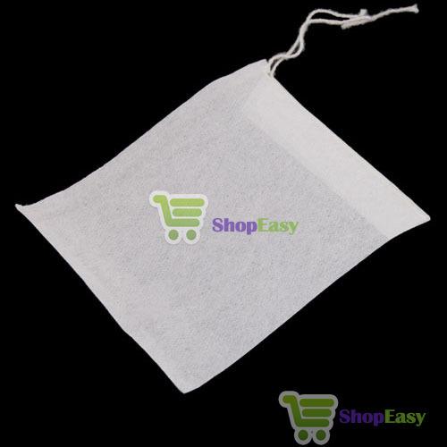 ShopEasy Underspend! 50 PCS Empty String Heat Seal Filter Paper Tea Bag 6X8CM hot wholesale(China (Mainland))