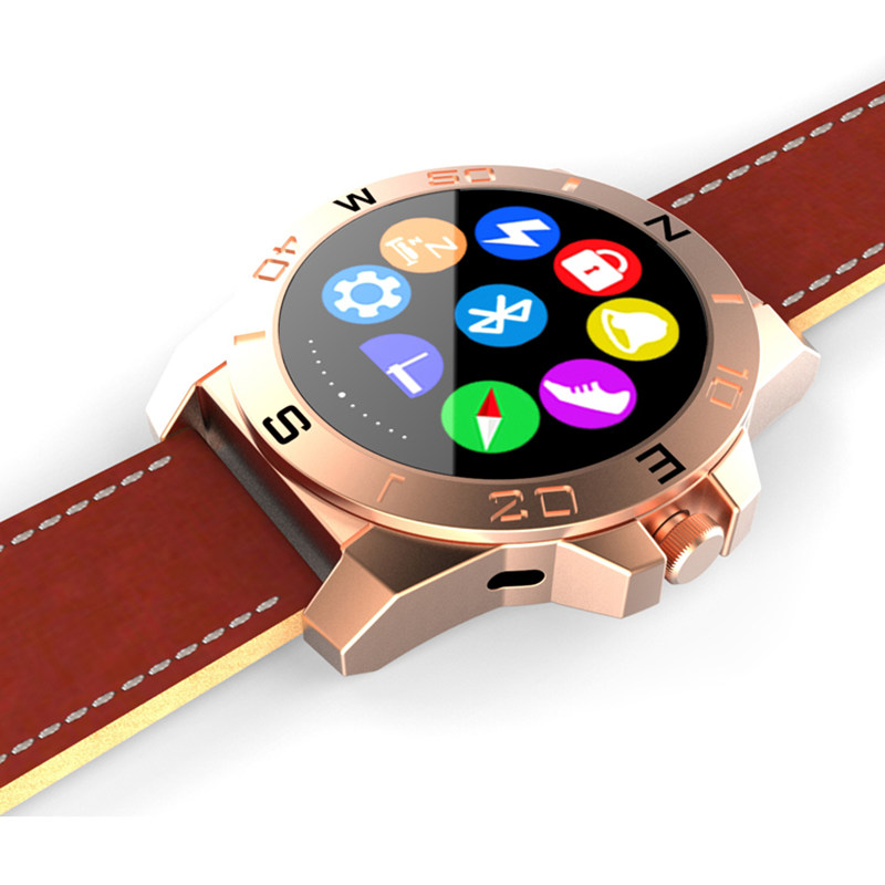 Business Bluetooth Smart Watch X2 Clock Luxury Leather Waterproof with Pedometer Hands Free Call Remote Camera Compass(China (Mainland))