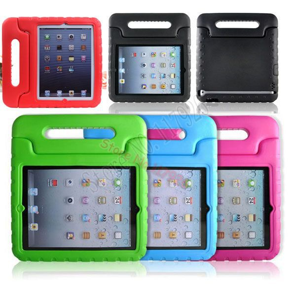 Colorful Apple iPad 5 Air Shockproof Drop resistance grid EVA Soft Silicone Cartoon Kids Children Case Cover Stand - Shenzhen Bolihua Battery Technology Co.,ltd store