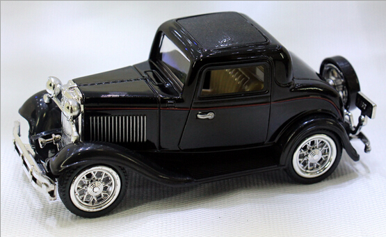 1:32 Classic Ford Wecker Vintage Car Models Alloy Diecast Vehicle Pull Back Car Model Toys Car Collection Furnish Kids Gifts #FB(China (Mainland))