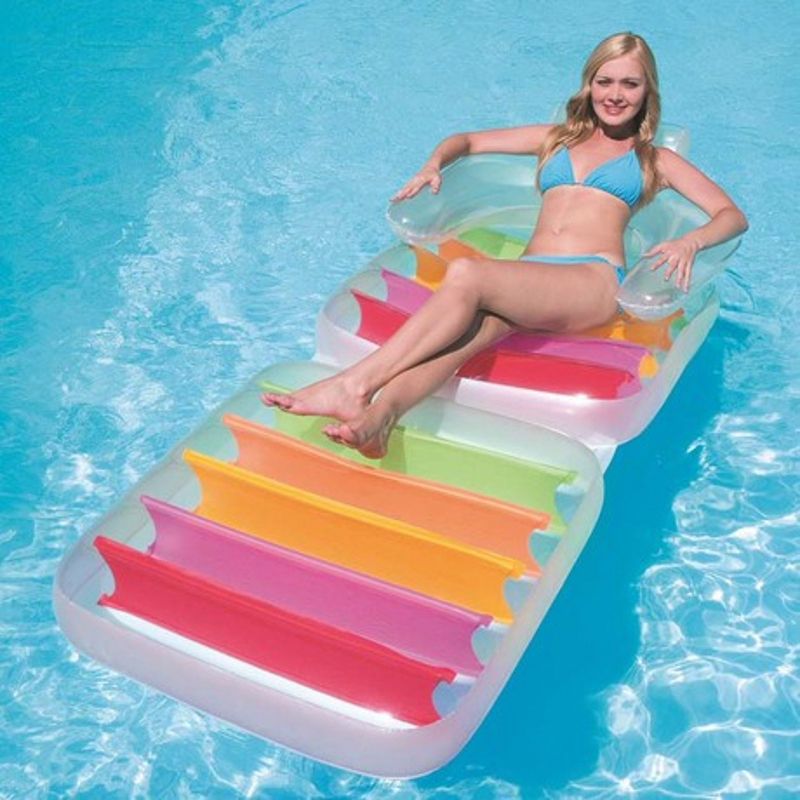 """IBAMA Float Inflatable Lounge Chair Folding Pool Water Couch, 78"""" X 37"""", 1 Pack(China (Mainland))"""