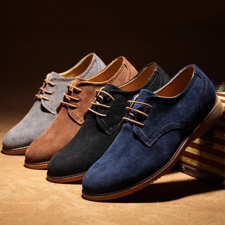 2015 high quality suede leather oxford shoes