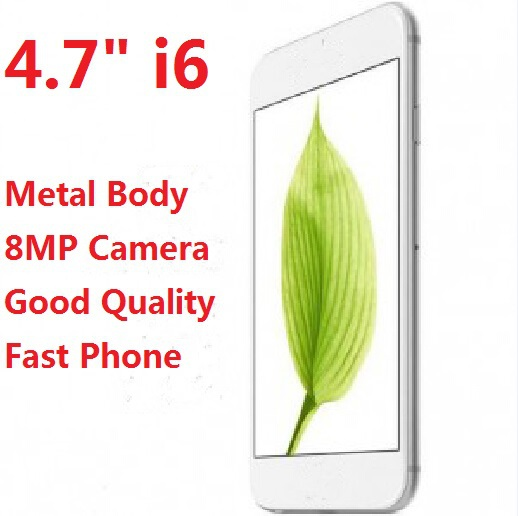 Metal Body HDC i6 cell phone 4.7 inch Dual Core MTK6572 IPS 8MP Camera Android 4.4 wholesale Free shipping(China (Mainland))