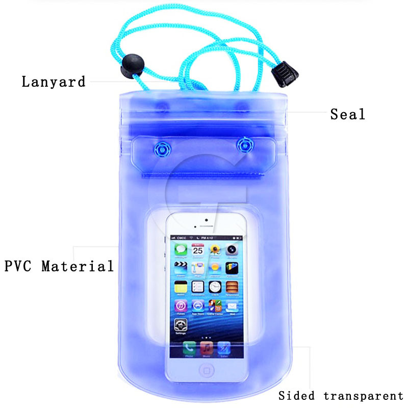 CHNLAN 2015 Universal Waterproof Case 100% Sealed Ultra Slim Soft PVC Diving Waterproof Cover For HTC M9 E9 M8 E8 M7 802d 816(China (Mainland))