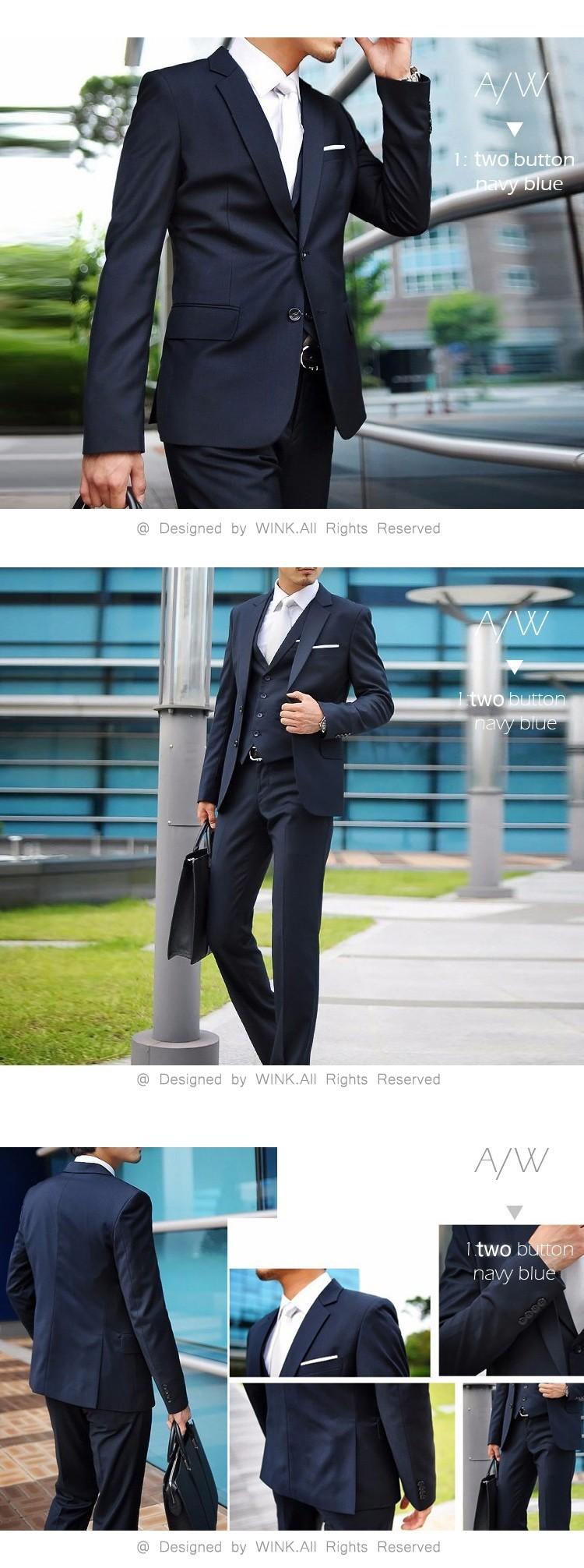 Best Jacket+Pant+Tie Men Wedding Suit Sets Tuxedo Formal Fashion ...