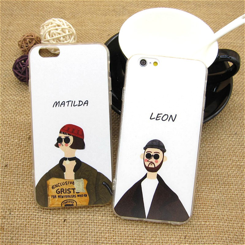 """Fashion Leon Matilda Classic Movie Character Back Covers for iPhone 6 6s 4.7"""" Luxury Plastic TPU Ultra Thin Phone Case Shell"""