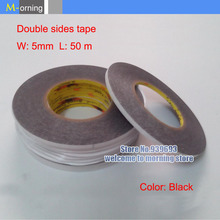Double Side Adhesive 3M Sticker Tape Repair tools 5mm*50 meters color black free shipping