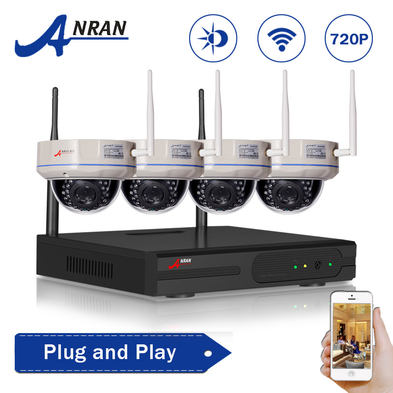 Wireless 4CH 720P NVR Plug and Play 1TB HDD HD Indoor Security Camera System WIFI IP Video Surveillance CCTV System(China (Mainland))