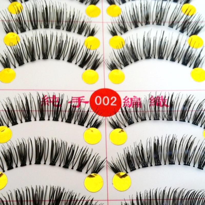 10pairs Full Strip Lashes Handmade False eyelash Natural Fake False Eyelashes(China (Mainland))