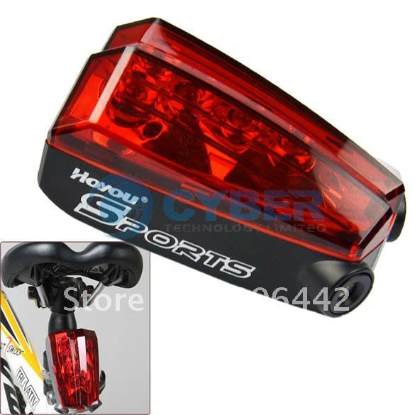 Holiday Sale New Outdoor Cycling Camping Bike Bicycle Laser 5 LED Rear Tail Light Safety Lamp Free Shipping 6252