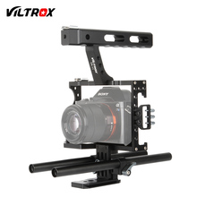 Buy Viltrox 15mm Rod Rig DSLR Camera Video Cage Kit Stabilizer + Top Handle Grip Sony A7 II A7RII A7SII A6300 A6000/GH4/EOS M5 for $62.98 in AliExpress store