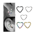 1 Pcs Only 16g Steel Cartilage Ear Lip Tragus No Piercing Fake Heart Clip On Tragus