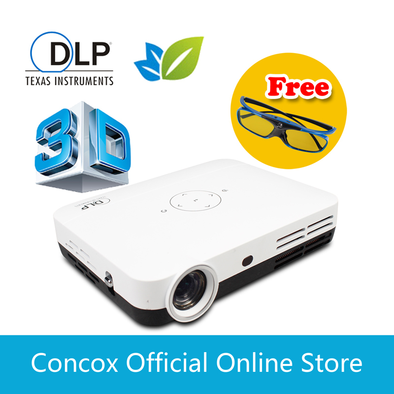 3d video projector 1080p Excellent for training class/school education HD projector top gifts 2014 Concox Q shot1(China (Mainland))