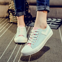 Size 35-40 New 2016 Spring Ladies White Canvas Shoes Women Breathable Flat Shoes Lace Up Shoes Woman Zapatos Mujer F318