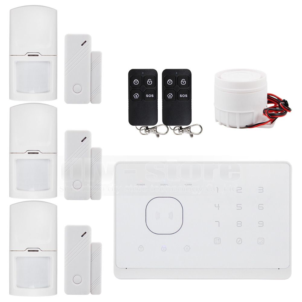 Wireless&Wired GSM Home Security Burglar Alarm System + IOS/ Android App Touch Panel(China (Mainland))
