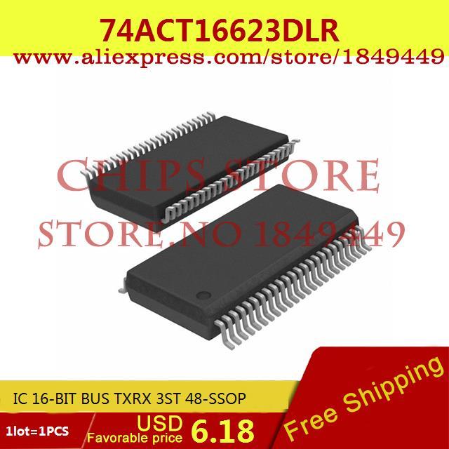 Бесплатная Доставка Diy Интегральных Схем 74ACT16623DLR IC 16-BIT BUS TXRX 3ST 48-SSOP ACT16623 74ACT16623 1 ШТ.