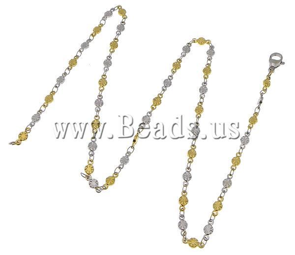 Здесь можно купить  Free shipping!!!Necklace Chain,Designer, 316L Stainless Steel, two-tone, 8x3.50x1.50mm, Length:17.5 Inch, 20Strands/Lot  Ювелирные изделия и часы