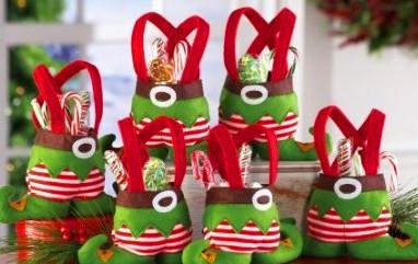Christmas Candy Bag Elf Bags Gift Decoration Supplies Adornos Navidad 2015 - Yiwu Jiusheng Super Store store