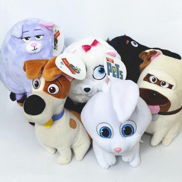 6 Стили Тайная Жизнь Домашних Животных Плюшевые Игрушки 15-20 см Собак и Кошек и Кроликов Животных Куклы