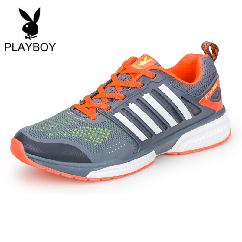 PLAYBOYCasual Shoes Men Summer Lace-Up Mesh Bleathable Outdoor Sport Flats Mens Chaussures De  -  Feng shang co., LTD store