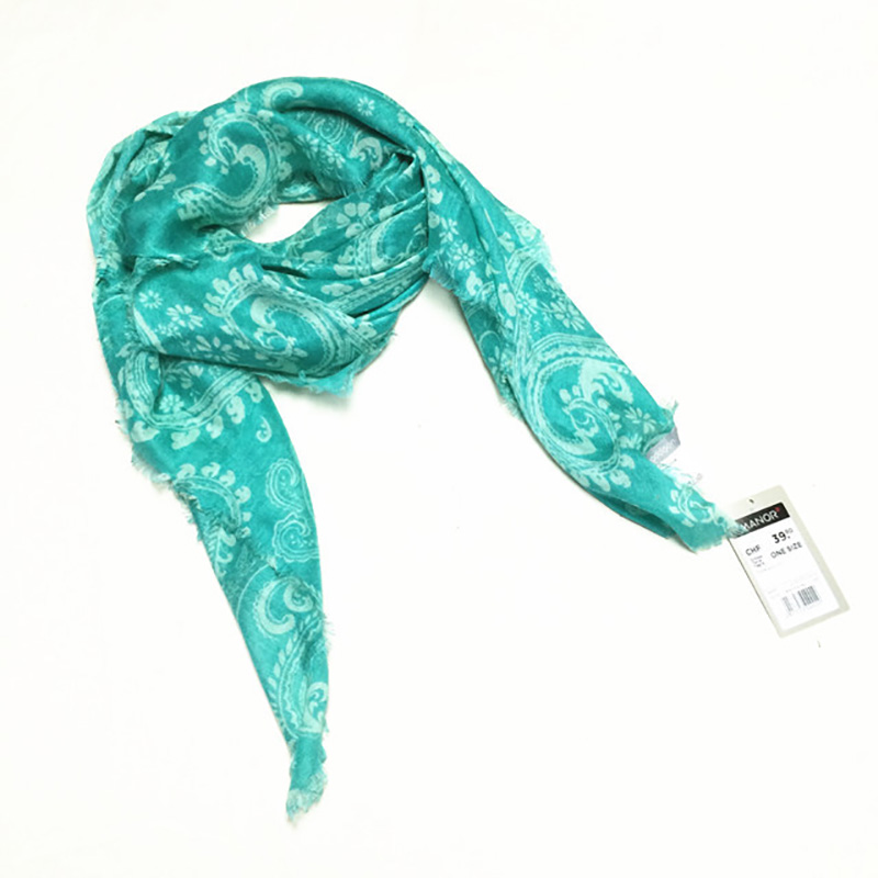 2016 Women Scarf blue double light style cashew viscose scarves square cape 100*100 cm Blanket Luxury Brand - LHSC dress or accessory Export factories store