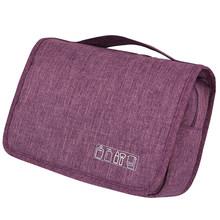 Kit de Higiene Viagem à prova d' água Dupla Camada para Mulheres Dos Homens Bolsa de Maquiagem Portátil Sacos Cosméticos Beauty Bag Organizador Carry On Caso(China)
