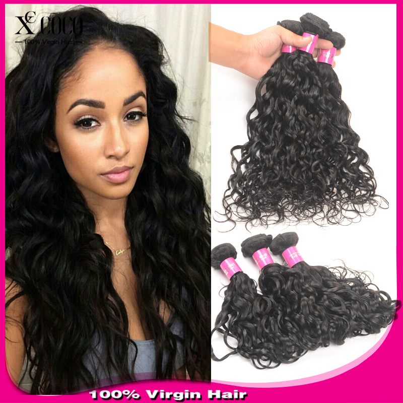 Brazilian Virgin Hair Water Wave 4Pcs Lot Iwish Hair Brazilian Natural Wave 100% Human Hair Wet and Wavy Virgin Brazilian Hair(China (Mainland))