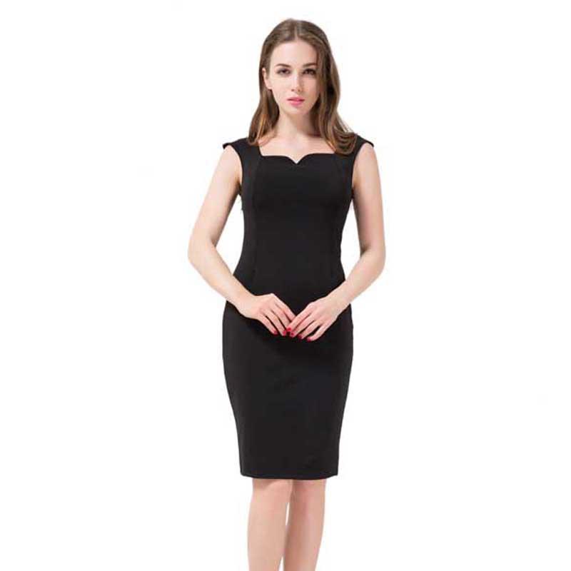 Free Shipping Backless Women Dress 2016 Summer Style 4XL Plus Size Women Clothing Solid Pencil Dress Fashion Black Vestidos(China (Mainland))