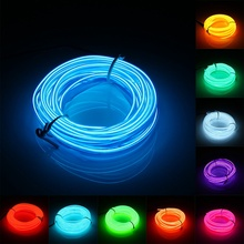 3 Meters 2.3mm LED Flexible EL Wire Neon Lights Glow Light Strip Party Festival Chrismas Home House Decoration Strip String Lamp(China (Mainland))
