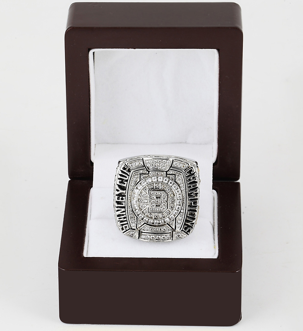 Cost Price 2011 Boston Bruins Stanley Cup Replica Copper silver plated world Championship Ring with Gorgeous Wooden Boxes(China (Mainland))