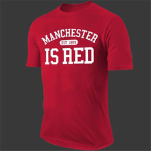 United Kingdom Red T-Shirt Letter Print Men Cotton Tops Brand Tshirt O-Neck Manchester Camisetas Mujer Sports T shirts T-F11457