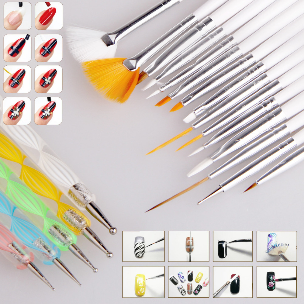 2Professional Nail Art Styling Tools Acrylic Brush Set Design Painting Pen Perfect Natural Pincel De Unha P - Super Wall-Mart A+ Co., Ltd store