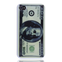 lureme brand Classical US Currency Printing Phone Case for apple iphone 4 or 4s for American best mobile phone accessories