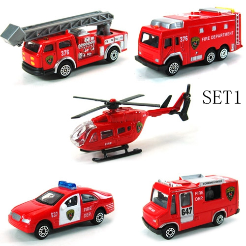 Mini Metal Alloy Red Fire Miniature Aerial Ladder Fire Truck Rescue Truck Engine Helicopter for Kids Diecast Vehicles Toys(China (Mainland))
