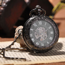 New Arrival Cool Luxury Men Fashion Watch With Necklace Vintage Steampunk Hand Wind Mechanical Pocket Watch Luxury Gift Cool(China (Mainland))