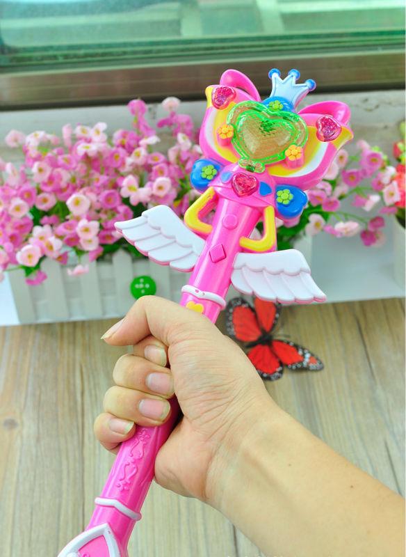 Balala Fairy Magic Wand Cartoon Toy for Kids Projector Light(China (Mainland))