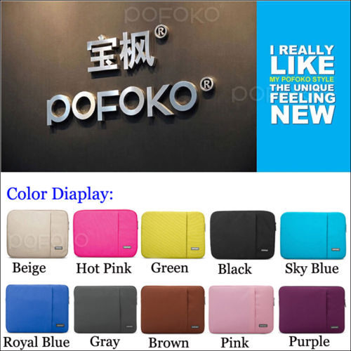 Free Shipping 5 Colors POFOKO Laptop Sleeve Carry Bag Case Cover Skin For MacBook Air/ White/ PRO 13<br><br>Aliexpress
