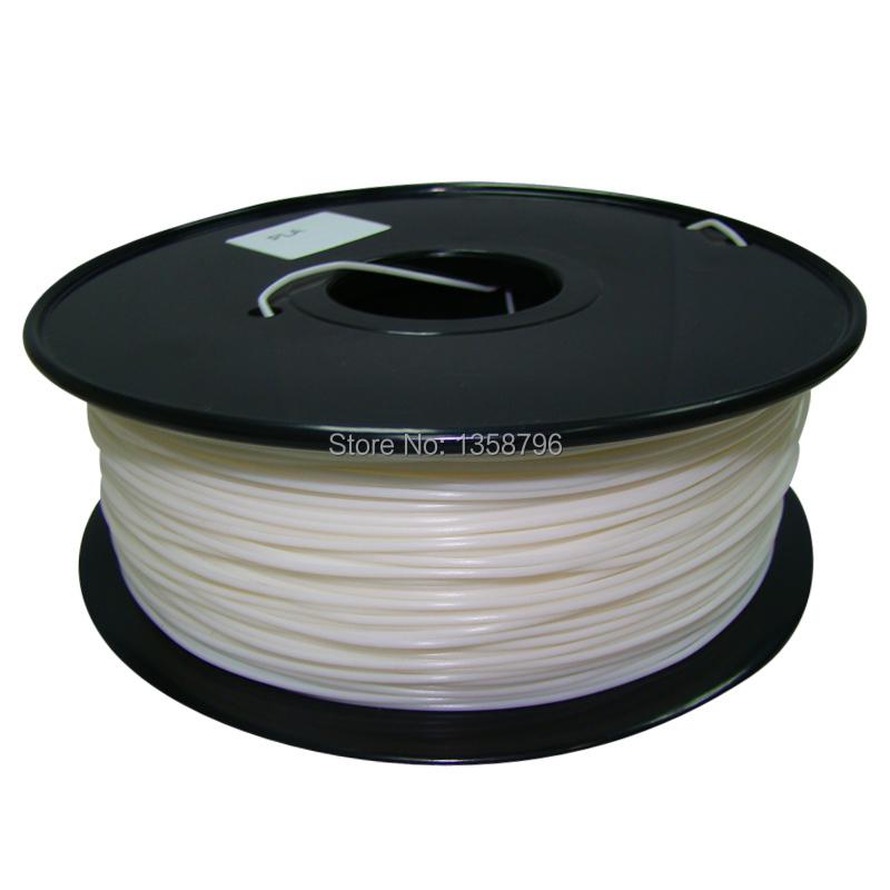 white color Makerbot/reprap/mendel/UP 3D printer filaments ABS/PLA 1.75mm/3mm 1kg(2.2lb) High quality<br><br>Aliexpress
