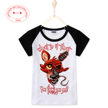 2016 New Vetement Garcon Ete Offer Five Nights At Freddy Kids T-Shirts Raglan Sleeve Cotton Girls Tops And Tees Free Shipping
