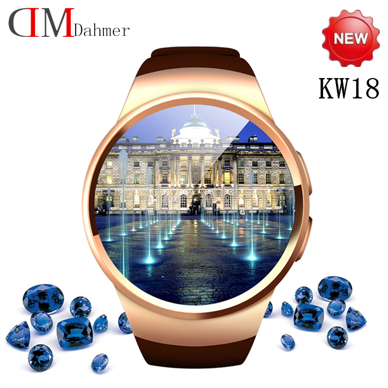2016 Hotest Smart Watches KW18 Full IPS Screen bluetooth smartwatch Fitness Tracker Apps For IOS Android mp3 PK M8 L10 Geak LEM1