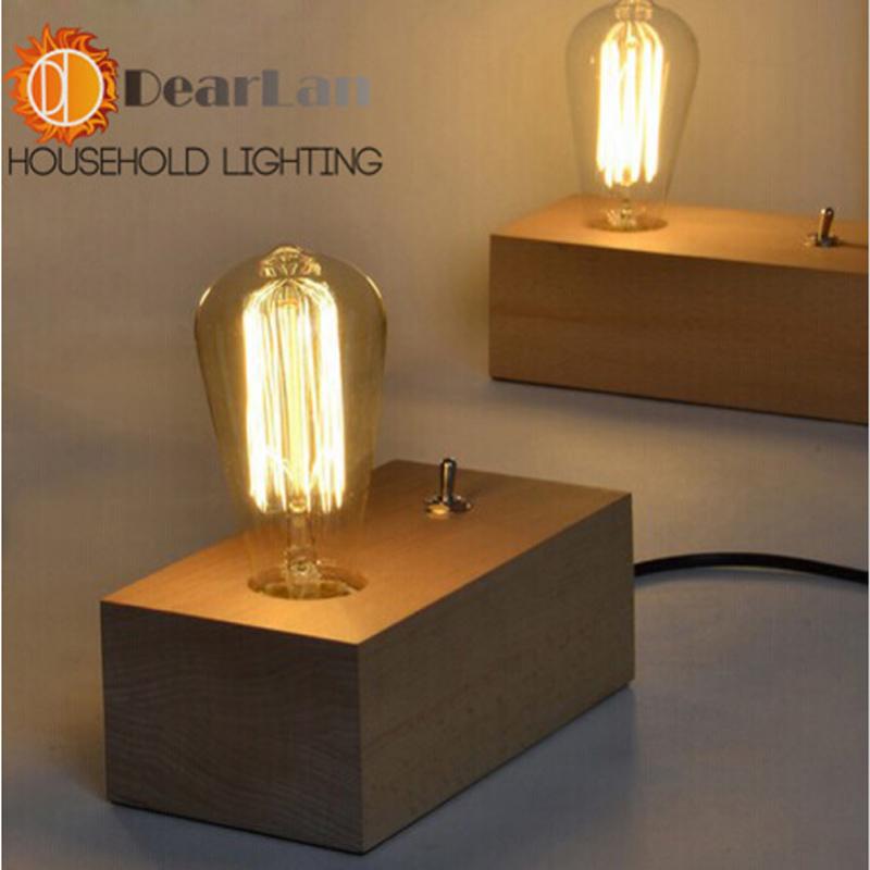 vintage rustic edison desk lightings edison bulb table lamp for decoration e27 e26 edison. Black Bedroom Furniture Sets. Home Design Ideas