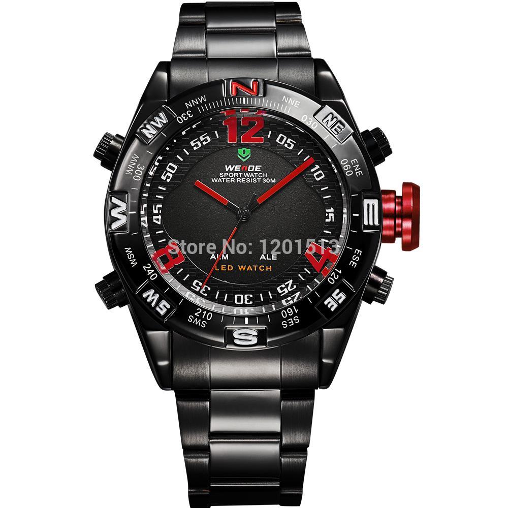 weide quartz sport wristwatch mens led