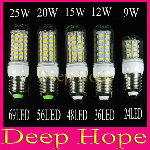 110V E27 SMD5730 LED Lamp 9W 12W 15W 20W 25W LED Light 110V E27 5730 Led Corn Bulb Chandelier Candle Light(China (Mainland))