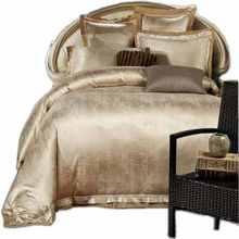 Gold/White/Blue Jacquard Silk Bedding Set Luxury 4pcs Satin Bed Set Duvet Cover King Queen Bedclothes Bed Linen Sets 16 Design(China (Mainland))
