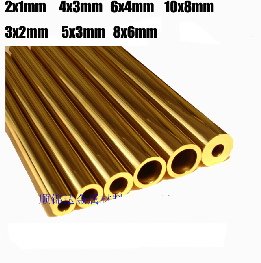 Brass tube cutting tool rivet mosaic rivet 2/3/4/5/6mm Brass pipe H62 100MM length 1 piece price(China (Mainland))