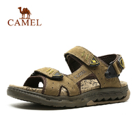 CAMEL genuine cow leather male sandals beach wear shoes A522341017
