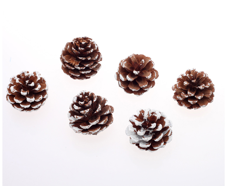 8pcs 4cm Size Home Decor Pine Cone Christmas Tree Decoration Pinecone Photography Props