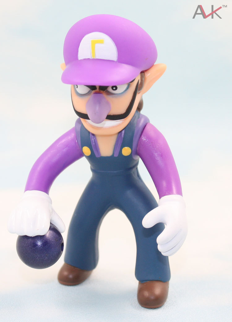 """Free shipping High Quality PVC Cute Super Mario Brother 4"""" WALUIGI Figure Toy Wholesale and retail(China (Mainland))"""