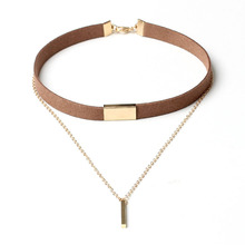 Buy 2016 New Black Velvet Choker Necklace Gold Chain Bar Chokers Chocker Necklace Women collares mujer collier ras du cou for $1.32 in AliExpress store